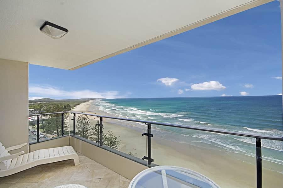 Coolum Beach resort apartment views